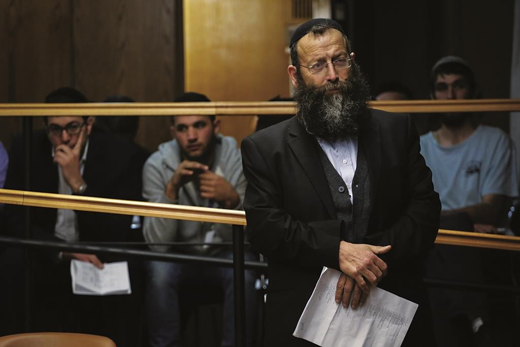 Right-wing politician Baruch Marzel at the Central Elections Committee on Thursday. (Hadas Parush/FLASH90)