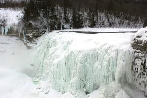 107-foot falls that is 85 percent frozen over near Glen Iris In. (Glen Iris Inn)