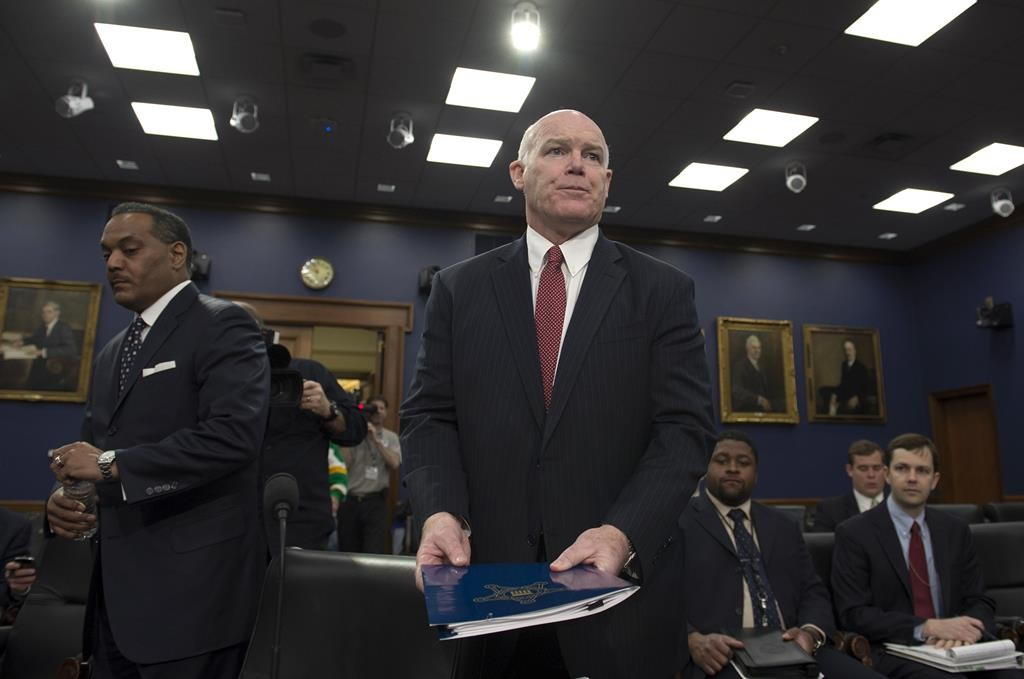 Secret Service Director Joseph Clancy arrives on Capitol Hill in Washington, Tuesday, to testify before the House Appropriations Homeland Security Budget hearing. (AP Photo/Molly Riley)