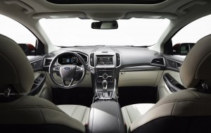 The 2015 Ford Edge's features include active park assist for hands-free parallel and perpendicular parking, help getting out of a tight spot and cameras to detect obstacles. (Ford)