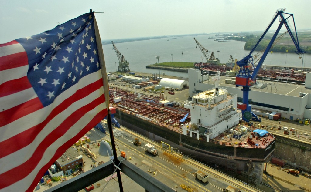 The Aker Philadelphia Shipyard is home to 1,100 workers. (Clem Murray/Philadelphia Inquirer/TNS)