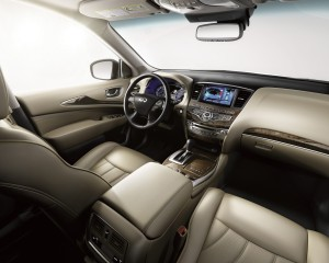 The seats inside the 2015 Infiniti QX60 are comfortable, firm and offer ample leg and head room. (Infiniti/TNS)