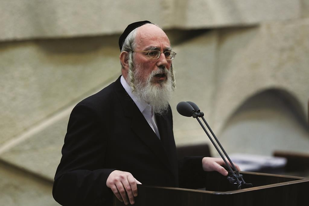 MK Rabbi Yisrael Eichler. (Yonatan Sindel/Flash90)