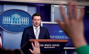 White House Press Secretary Josh Earnest speaks during the daily briefing at the White House in Washington, Monday. (AP Photo/Susan Walsh)