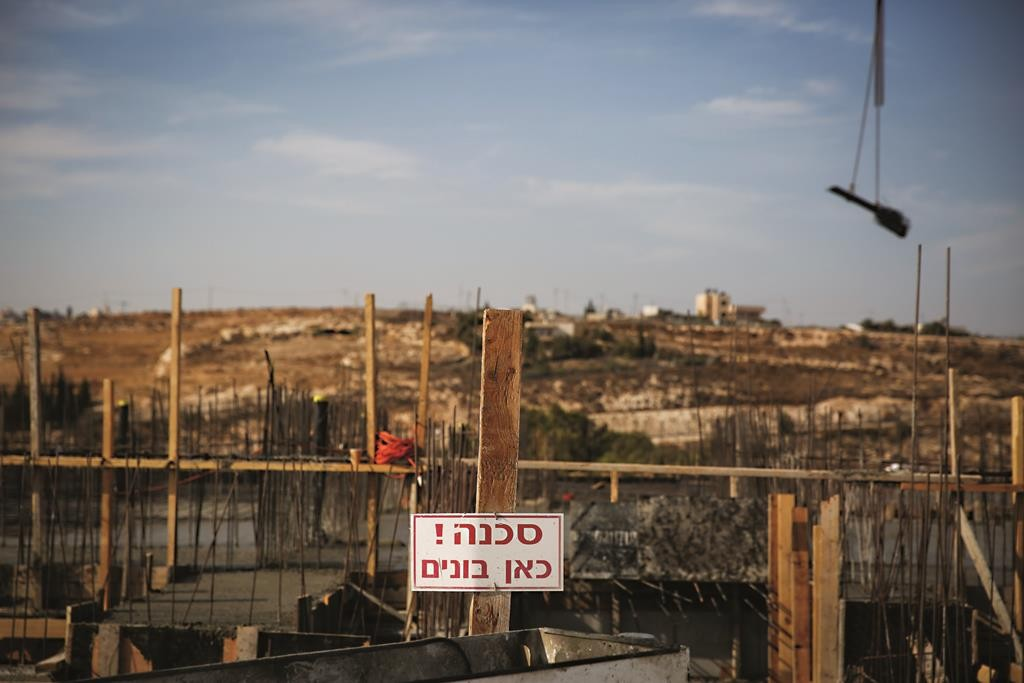 A construction site in the Jewish neighborhood of Har Homa, eastern Yerushalayim. (Hadas Parush/Flash90)