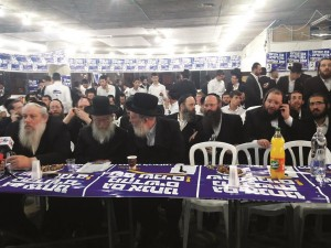 MK Eichler speaking with Hamodia while waiting for election results