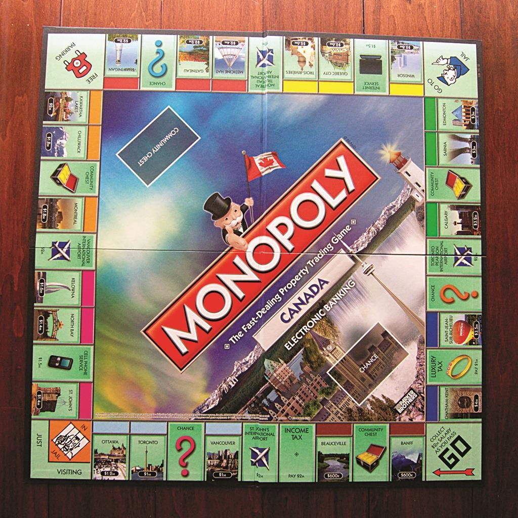 The Canadian edition of Monopoly.