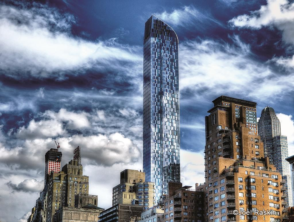 The 90-story One57 building in Manhattan's 57th Street where a Plexiglas panel fell.