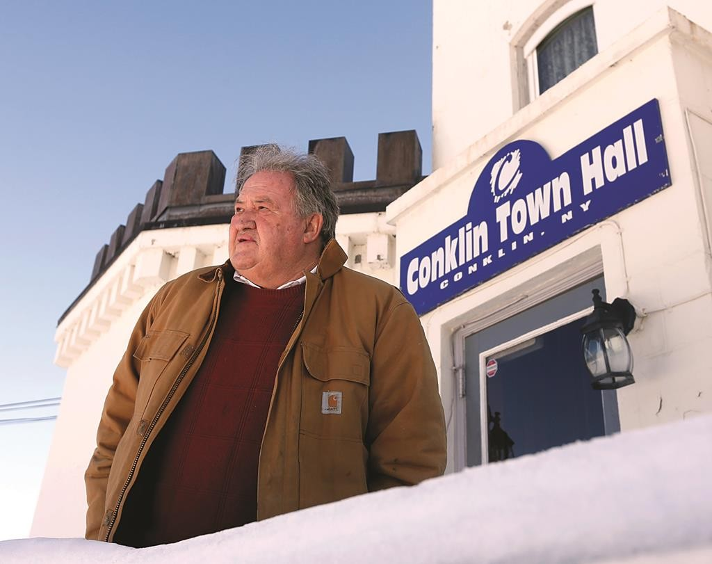 Supervisor Jim Finch last week Monday at his Conklin Town Hall. (AP Photo/Mike Groll)