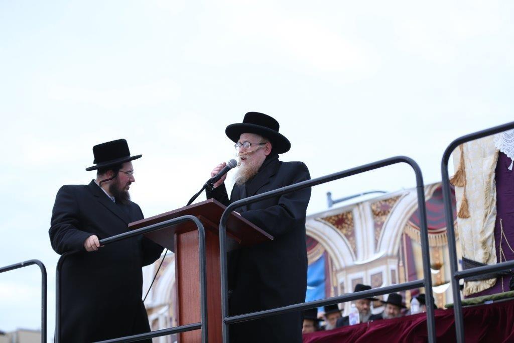 Harav Yechiel Mechel Steinmetz, shlita, Skverer Dayan. (Yossi Goldberger/JDN)