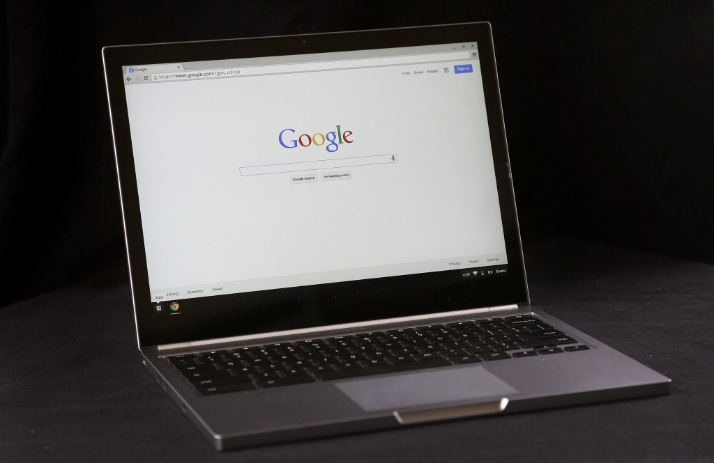 The Google Chromebook Pixel laptop. (AP Photo/Jeff Chiu)