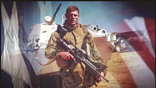 Trooper Donald R. Fredenburg, during his time as a Marine.