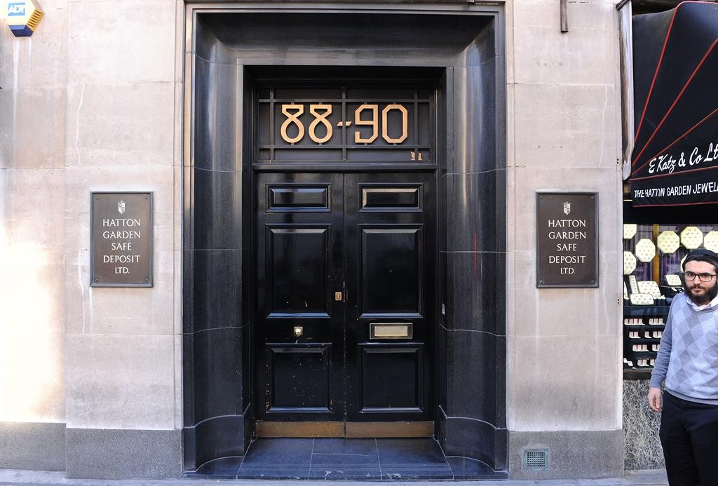 A general view of the Hatton Garden Safe Deposit company in London Tuesday April 7, 2015.  (AP Photo/Dominic Lipinski/PA)