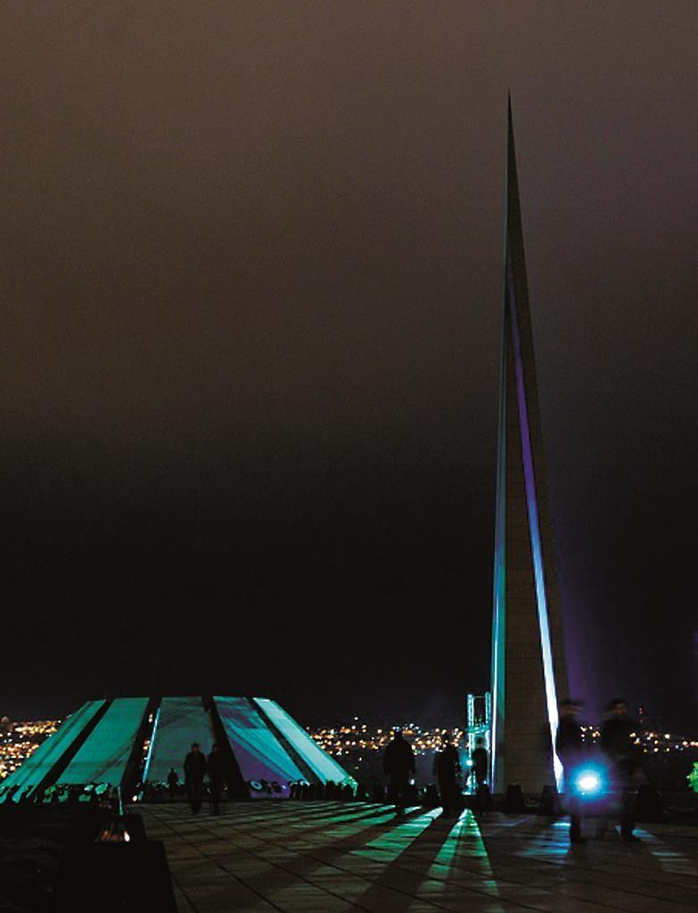 The Tsitsernakaberd Armenian Genocide Memorial in Yerevan. (KAREN MINASYAN/AFP/Getty Images)