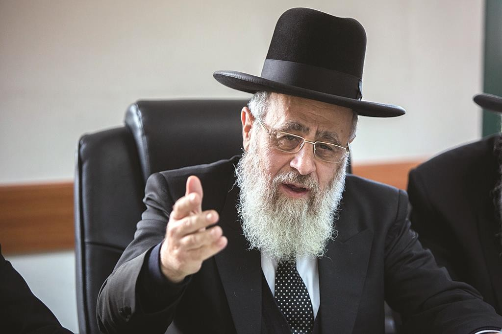 Sephardi Chief Rabbi Yitzhak Yosef. (Yonatan Sindel/Flash90)