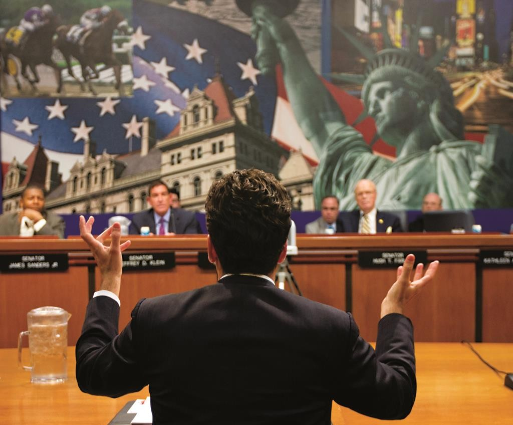 Benjamin Lawsky, superintendent of the New York's Department of Financial Services, speaks Thursday during a Senate hearing on auto loans. (AP Photo/Mike Groll)