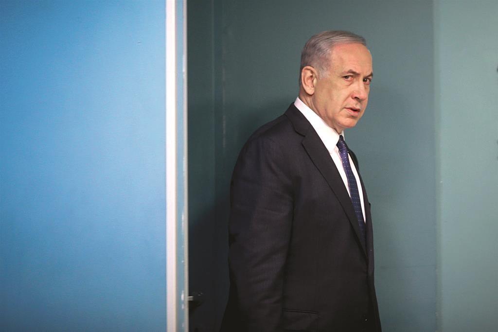 Israeli Prime Minister Binyamin Netanyahu. (Alex Kolomoisky/POOL)
