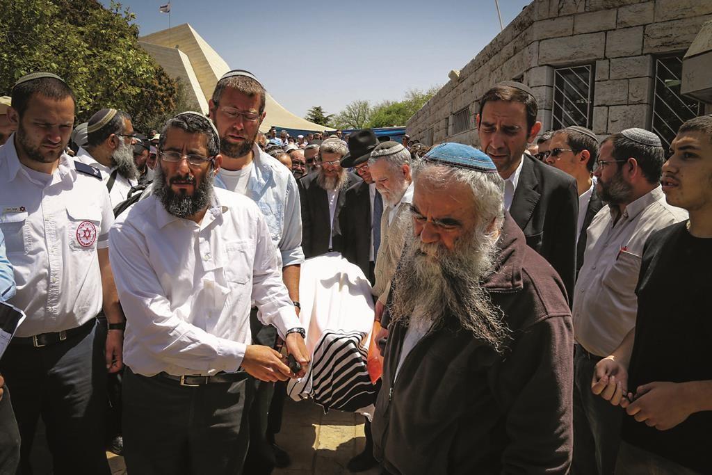 """At the levayah of Harav Aharon Lichtenstein, z""""l."""