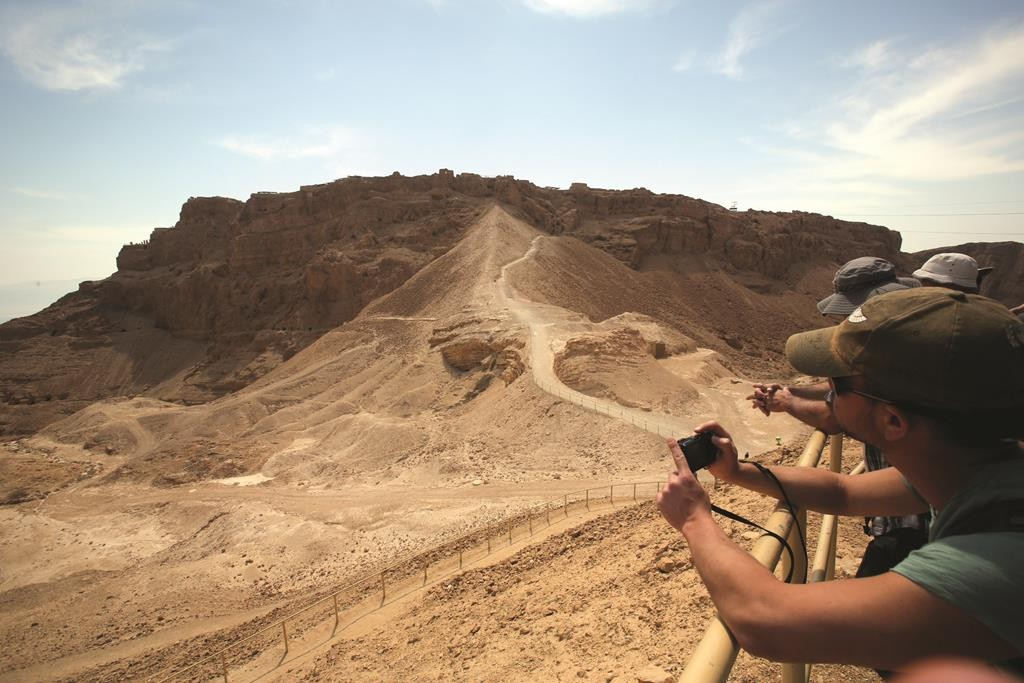 view of Masada, where an American tourist died on Tuesday. (Yossi Zamir/Flash 90)