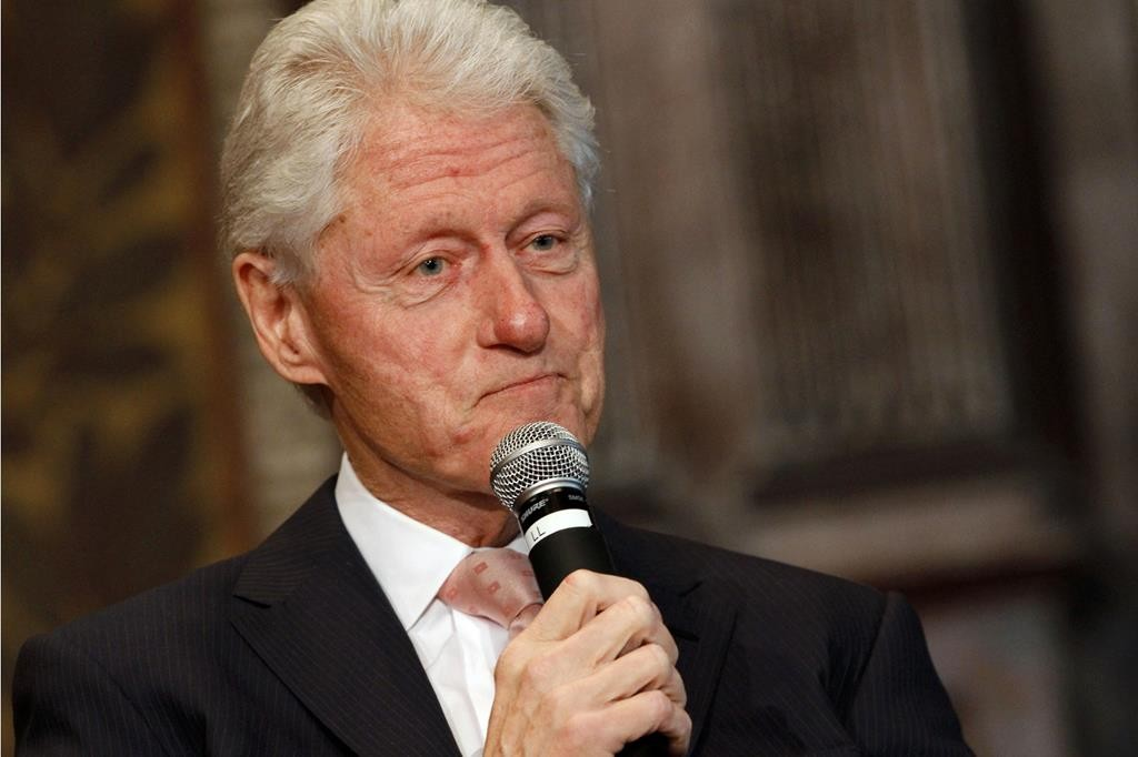 In this April 21, 2015 photo, former President Bill Clinton listens to a question after speaking at Georgetown University in Washington.  (AP Photo/Jacquelyn Martin)