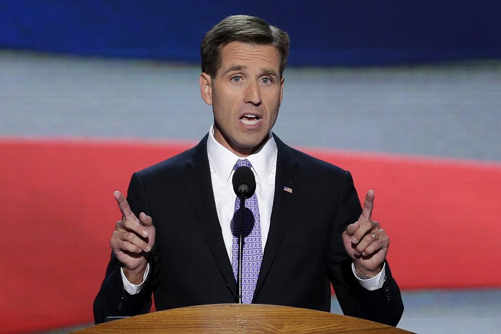 Beau Biden, Attorney General of Delaware and son of Vice President Joe Biden, nominates his father for the Office of Vice Presdient of the United States during the Democratic National Convention in Charlotte, N.C., on Thursday, Sept. 6, 2012. (AP Photo/J. Scott Applewhite)