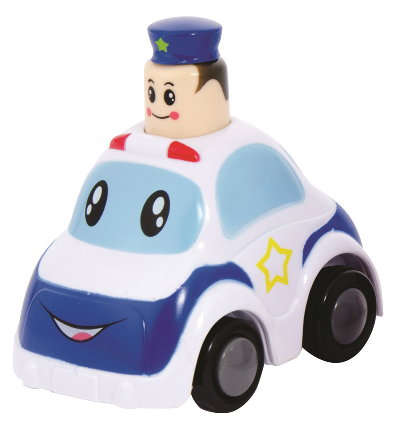 This photo provided by the U.S. Consumer Product Safety Commission shows Police Press & Go toy vehicle that is being recalled because the hat can detach from the policeman's head and pose a choking hazard to young children. (U.S. Consumer Product Safety Commission via AP)