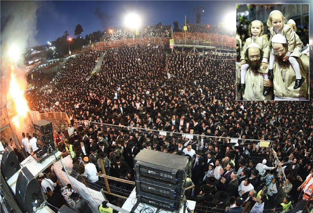 The large crowd at Meron on Lag BaOmer. (JDN)
