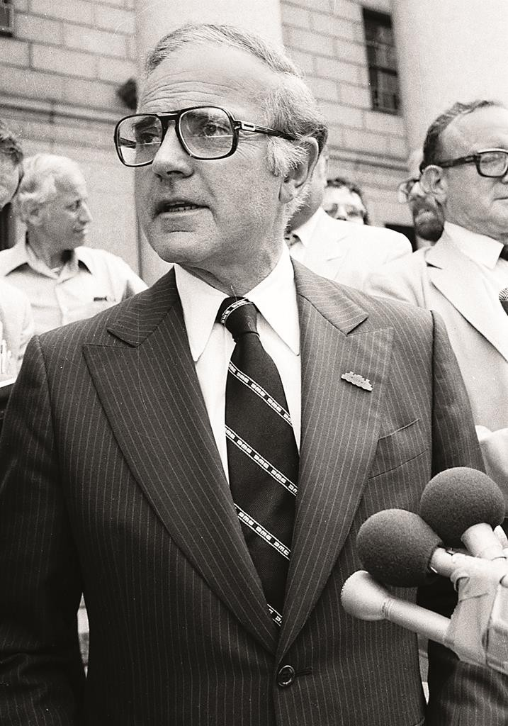 Rep. John Murphy speaks outside Federal Court in New York in 1980. (AP Photo/David Bookstaver)