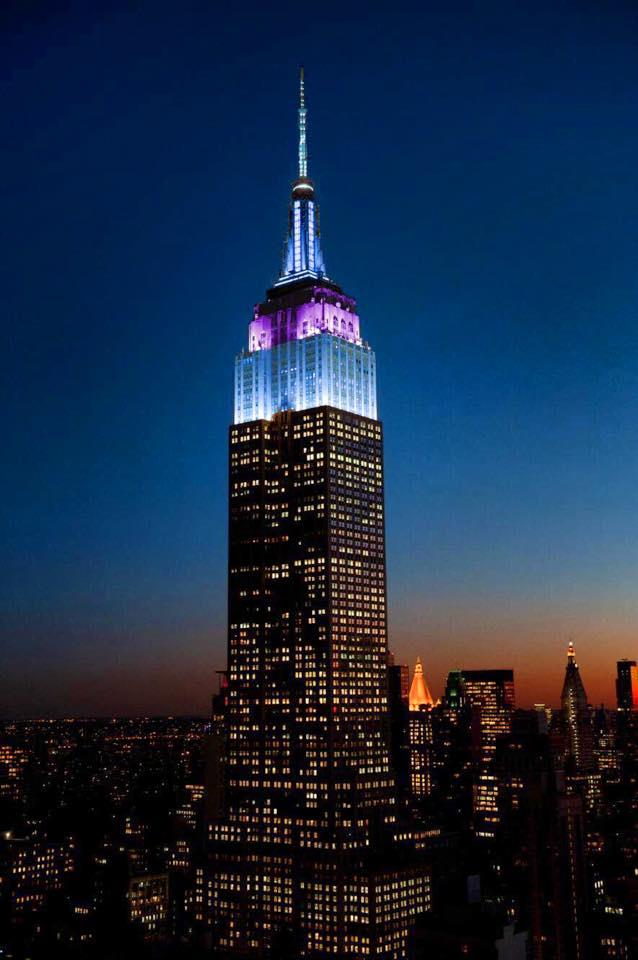 Empire State Building blazes the police colors Friday night for the NYPD and National Police Week, a time to recognize all law enforcement and those who have made the ultimate sacrifice. (NYPD)