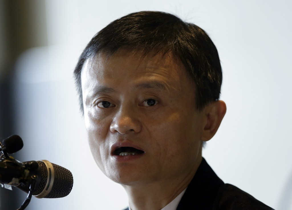 Alibaba Group Executive Chairman Jack Ma answers a reporter's question during a news conference in Seoul, South Korea, on Tuesday, May 19, 2015. (AP Photo/Lee Jin-man)