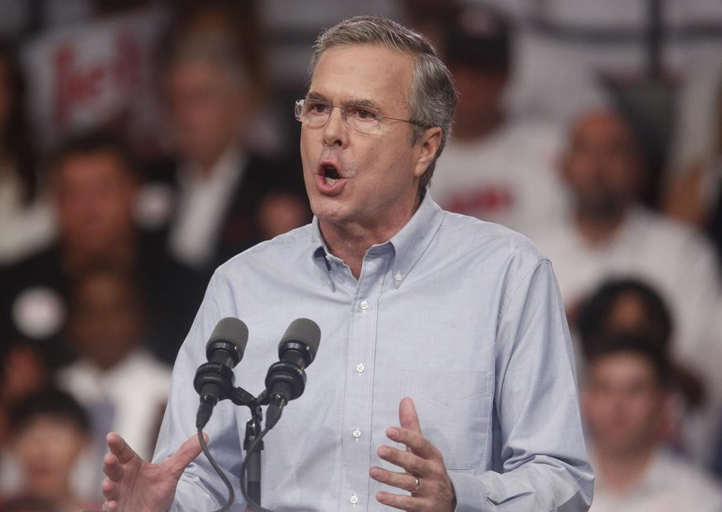 Former Florida governor Jeb Bush formally announces his campaign for the 2016 Republican presidential nomination during a kickoff rally in Miami, Florida, Monday.  (REUTERS/Carlo Allegri)