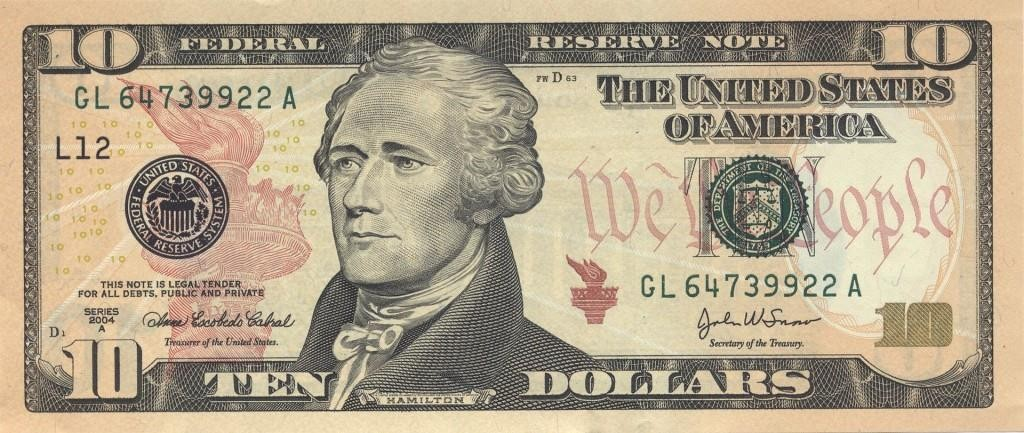 The descendants of Alexander Hamilton, as well as former Fed Chairman Ben Bernanke, oppose the U.S. Treasury's plan to remove Hamilton from the $10 bill.  (U.S. Treasury Bureau of Engraving and Printing)