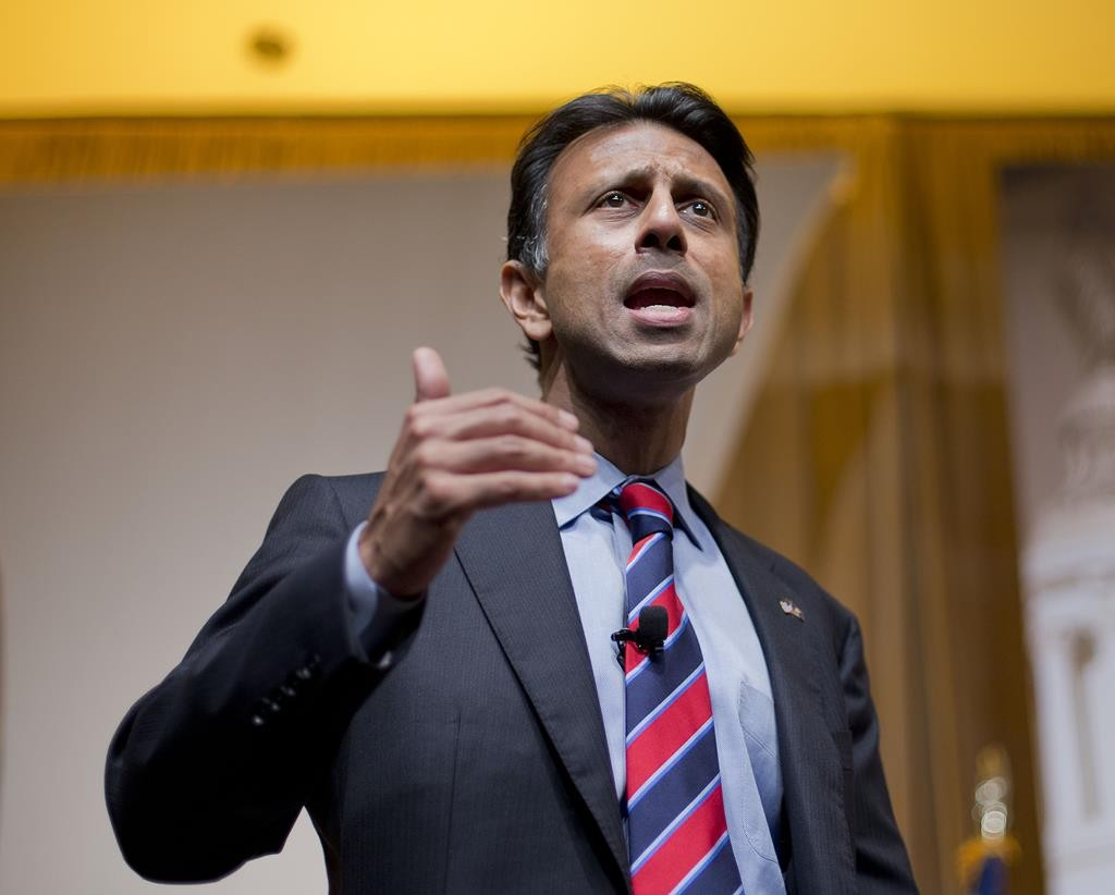 In this June 19 photo, Louisiana Gov. Bobby Jindal speaks at the Road to Majority 2015 convention in Washington.  (AP Photo/Pablo Martinez Monsivais)