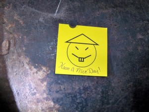 A taunting note left by the escapees. (Darren McGee/ Office of the Governor)
