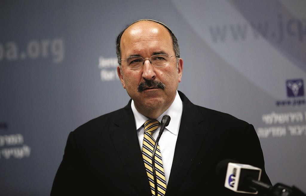 New Israeli director general of foreign affairs, Dore Gold, delivers a speech on June 1, 2015, in Jerusalem during a conference about the 50-day war in Gaza between Israel and Hamas militants in the summer of 2014. Israeli Prime Minister Benjamin Netanyahu named on May 25, 2015 Dore Gold as his director general of foreign affairs. Gold was an adviser to Netanyahu after he first took office in 1996, served as ambassador to the UN in 1997-1999 and also advised former premier Ariel Sharon. AFP PHOTO / THOMAS COEX (Photo credit should read THOMAS COEX/AFP/Getty Images)