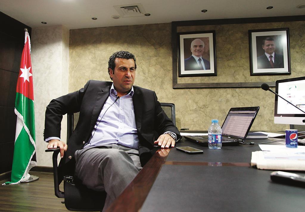 Abdullah Sawalha, director of the Center for Israel Studies in Amman, Jordan. (AP Photo/Sam McNeil)