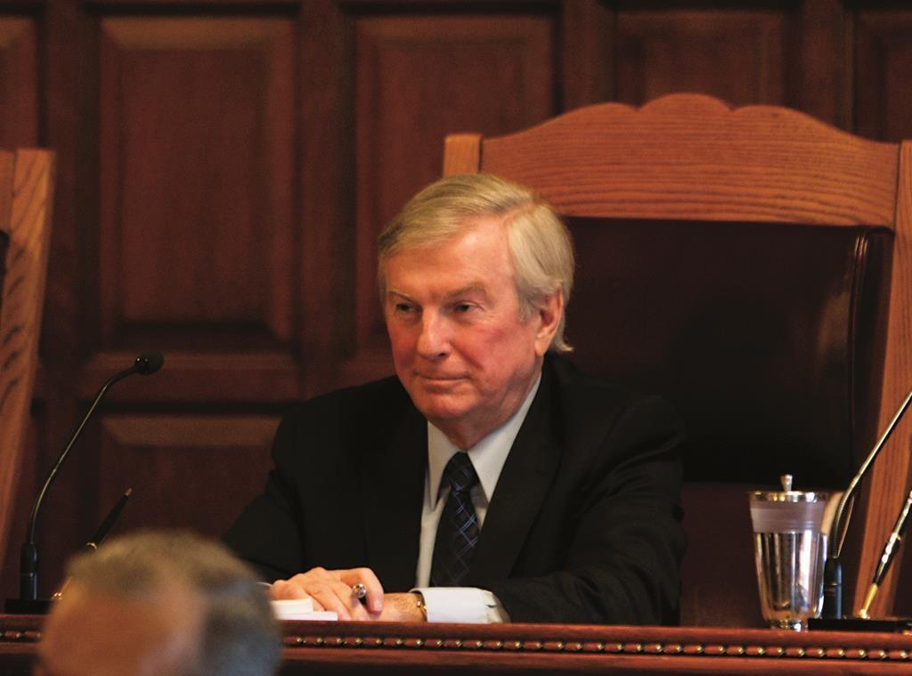 Judge Eugene Pigott, Jr.  (AP Photo/Mike Groll)