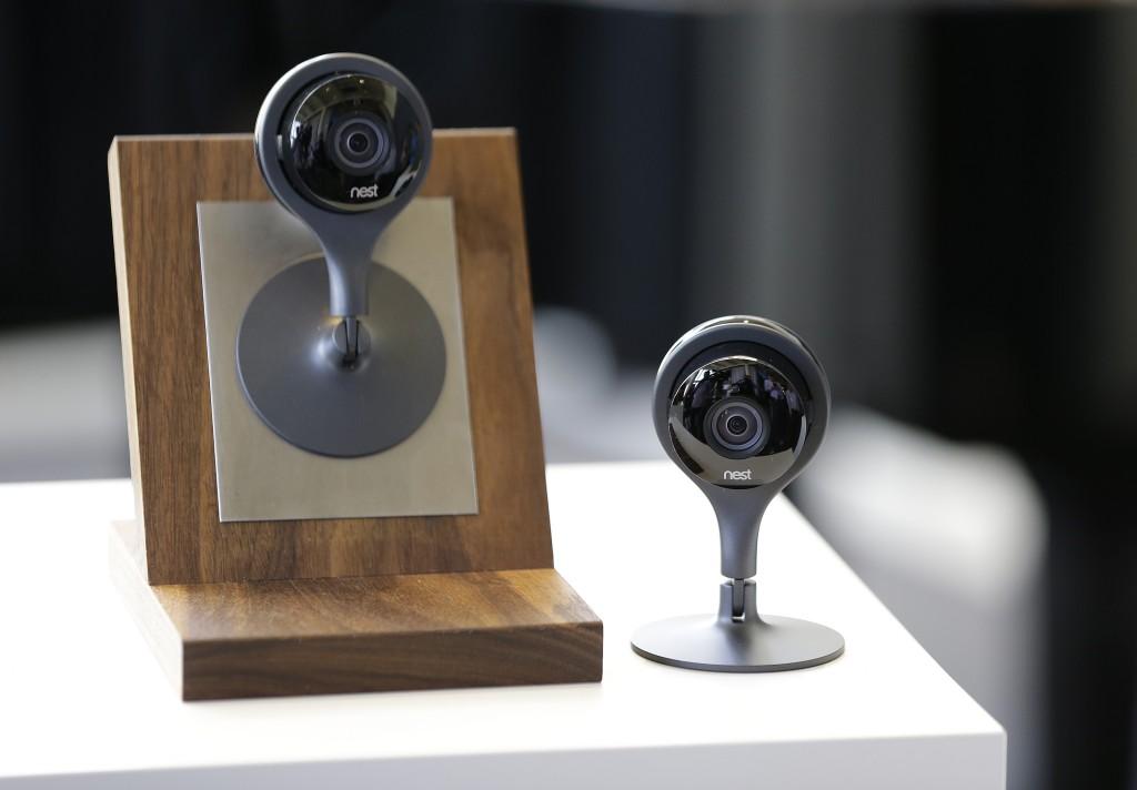 The latest Nest Cam surveillance-video camera. (AP Photo/Eric Risberg)