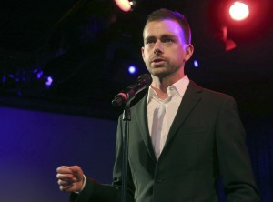 Jack Dorsey 38 – shown here speaking at a campaign fundraiser for Democratic Candidate for Public Advocate Reshma Saujani in New York, on April 24, 2013 –  will be Twitter's interim CEO while the company looks for a replacement. (AP Photo/Mary Altaffer, File)