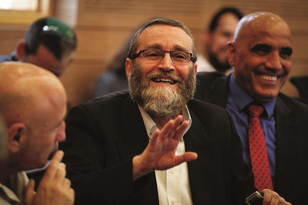 Knesset Finance Committee chairman Rabbi Moshe Gafni (UTJ). (Hadas Parush/Flash90)