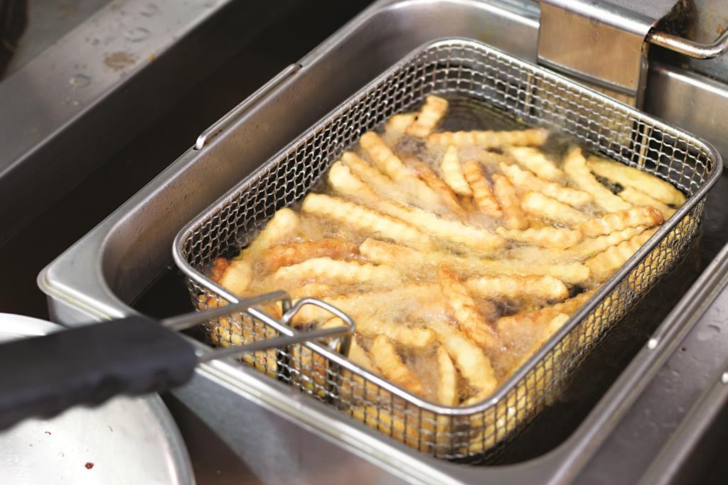 Foods that require deep frying — french fries, doughnuts and fried chicken — can contain trans fat from the oil used in the cooking process.