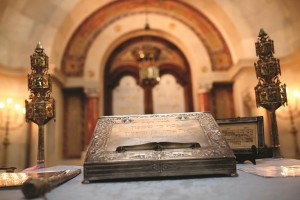 The interior of a shul in Lisbon. (AP Photo/Francisco Seco)