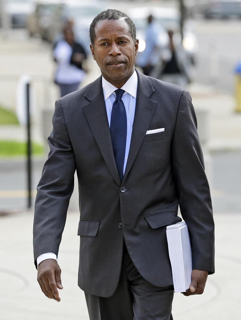 Former Democratic state Sen. Malcolm Smith arrives to federal court in White Plains, N.Y., Wednesday. (AP Photo/Seth Wenig)