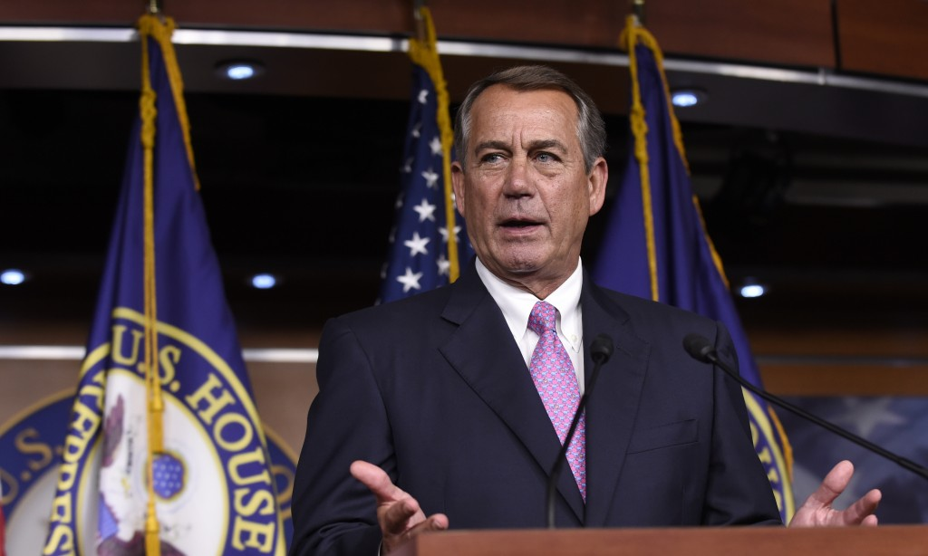 House Speaker John Boehner of Ohio speaks during a news conference on Capitol Hill on Wednesday, July 29. (AP Photo/Susan Walsh)