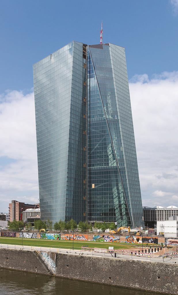 The European Central Bank in Frankfurt.  (Norbert Nagel)