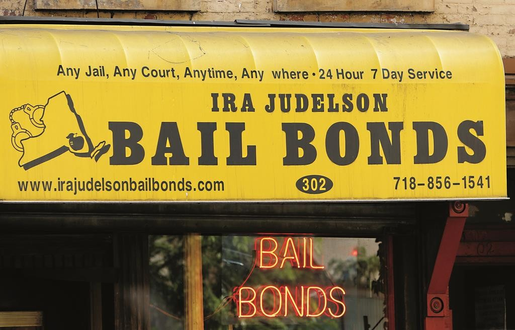A bail bonds business is shown along Atlantic Avenue in Brooklyn. (AP Photo/Kathy Willens)