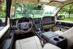 Premium leather and wood are included in the cabin of the redesigned 2015 Lincoln Navigator, which can seat up to eight people. (Lincoln)