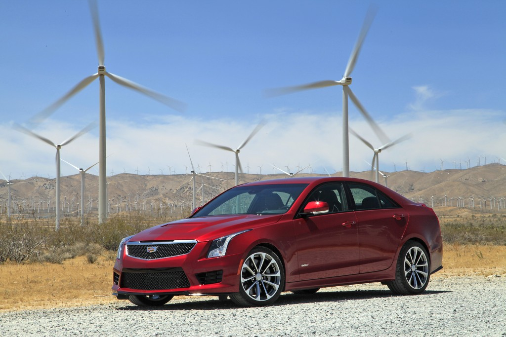 The 2016 Cadillac ATS-V is a 464 horsepower sports car powered by a turbocharged 3.6-liter V6. A six-speed manual transmission is available, as well as an automatic with paddle shifters. It's available as a coupe or a sedan, and has an MSRP of $61,460 to $63,660. (Myung J. Chun/Los Angeles Times/TNS)