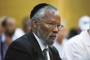 Ethiopian community leader Rabbi Yosef Hadane at the session.
