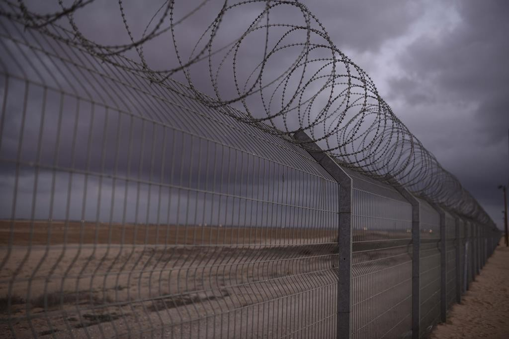 A view of the fence in Shlomit, near the Israel-Gaza border. (Tomer Neuberg/Flash90)